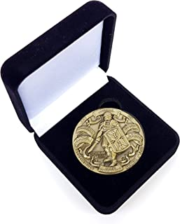 Armor of God High Relief Challenge Coin in Gift Box, Ephesians, Put on The Whole Armour of God, 1 3/4 inch Diameter (44 mm)