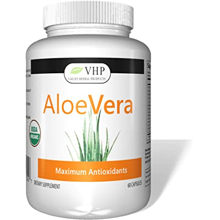 Valley Herbal Products - Aloe Vera Capsules - 1000mg per Serving (60 Capsules)