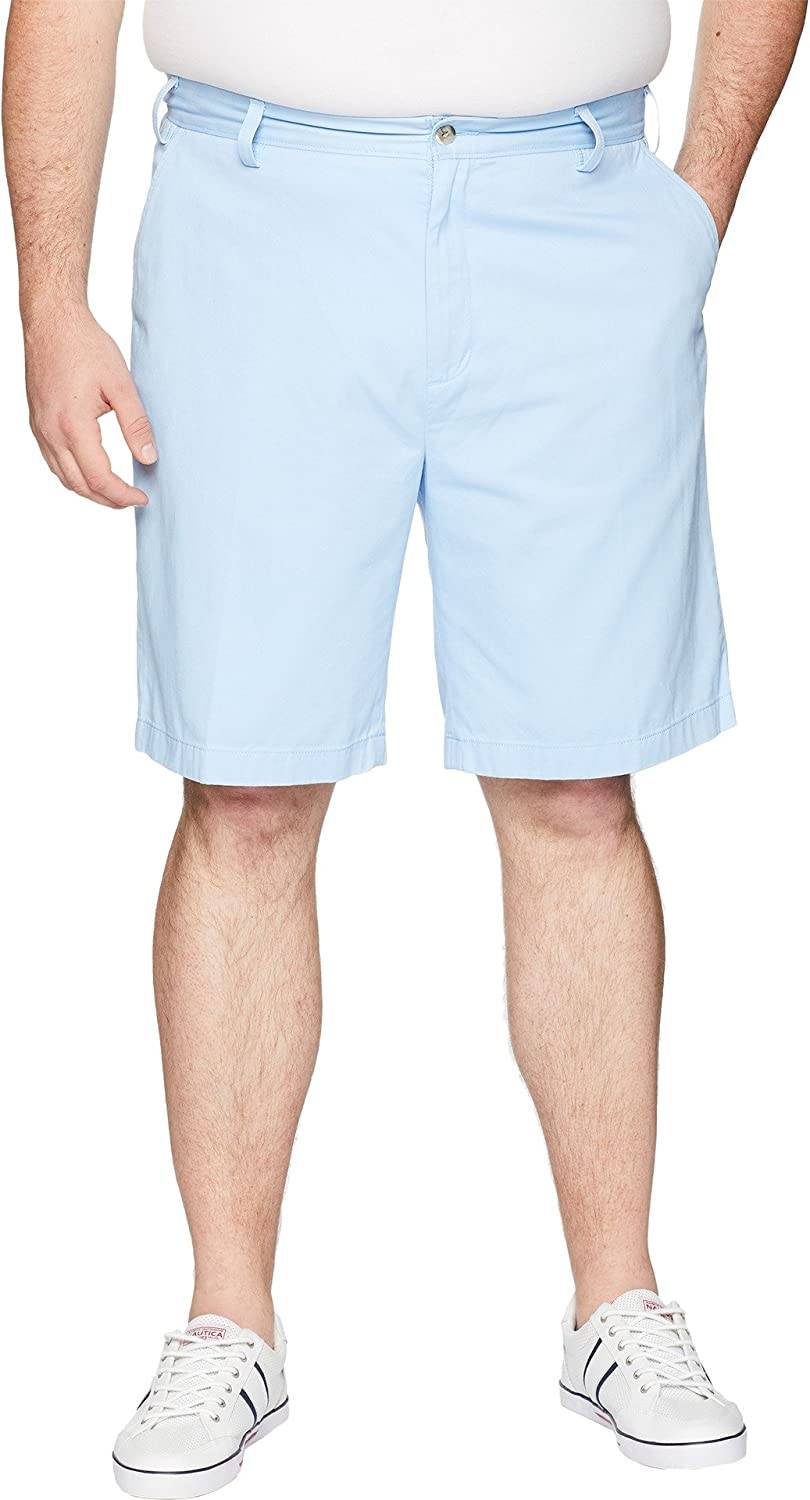 Nautica Men's Big Cheap super special price and Tall Cotton Twill Selling selling Flat Short Chino Front