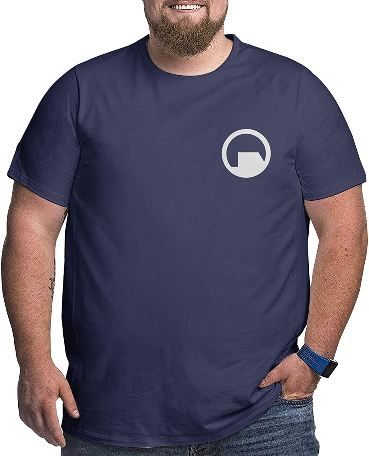 Black Mesa Research Facility Mens Simple Big Size Summer Outdoor Short Sleeve Round Collar Tshirt