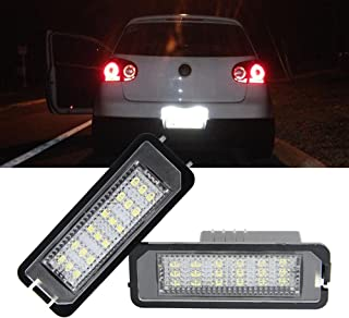 VW Led License Plate Light Bulb - NSLUMO LED Number Plate Light 12V Canbus Xenon White For Volkswagen VW Beetle Golf 4 5 6 GTi MK4 MK5 CC Rabbit Eos Phaeton (VW Golf 4 5 6 GTi MK4 MK5 CC)