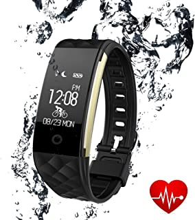LUXSURE Fitness Tracker Activity Monitors Watch Bracelet Heart Rate Sleep Health Tracker Step Counter Notification Alerts Smart Wristband for iPhone/Android Smartphones