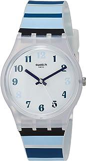 ساعة كوارتز للرجال من سواتش، عرض انالوج وسوار من السيليكون GE275