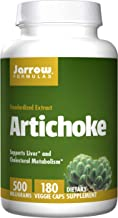 Jarrow Formulas Artichoke 500, Supports Liver and Cholesterol Metabolism, 500 mg, 180 Caps