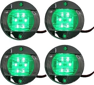 NovelBee 4-Pack 3 Inch 6 LED Round Marine Navigation Light,12V Waterproof Transom Mount Anchor Stern Light