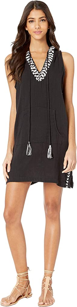 Sleeveless Hoodie Dress Cover-Up