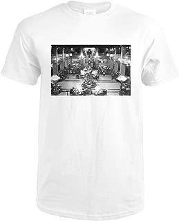 Spokane, WA Davenport Hotel Lobby View Photograph 3175 (Premium White T-Shirt Large)
