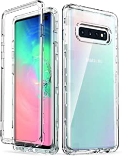 ULAK Galaxy S10 Plus Case, Slim fit Transparent Heavy Duty Shockproof Rugged Protection Case Soft TPU Protective Cover for Samsung Galaxy S10+ Plus 6.4 Inch Without Screen Protector, Crystal Clear