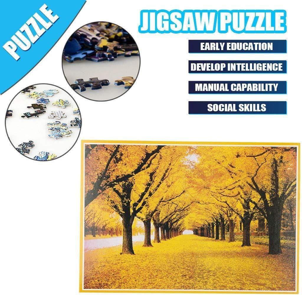 WHSS 1000 Peices Jigsaw Puzzels Voor Volwassenen En Kinderen Houten Puzzel Kits Geschenken DIY Muurschildering Schilderen Educatieve Games Speelgoed 75X50cm (Kleur: G) H