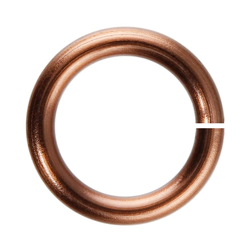 18-Gauge 4mm Antique Copper Enameled Copper Jump Rings - 1 ounce