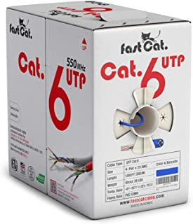 fastCat. Cat6 Ethernet Cable 1000ft - Insulated Bare Copper Wire Internet Cable with Noise Reducing Cross Separator - 550M...