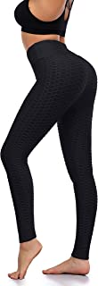 EAST BUND Butt Lift Anti Cellulite Sexy Leggings for Women High Waisted Yoga Pants Tummy Control Workout Running Tights