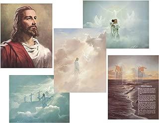 wallsthatspeak Christian Art Prints Wall Posters - Jesus Christ and Angel Motivational Posters, Set of 5, 8
