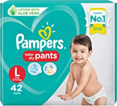 Pampers Diapers Pants, Large , 42 Count