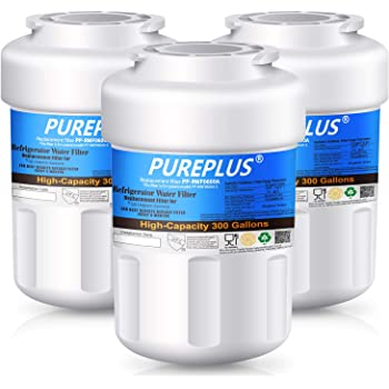 Icepure Replacement Refrigerator water filter for GE MWF,MWFP,MWFA,MWFAP,MWFINT,GWF,GWF01,GWF06,GWFA,HWF,HWFA,FMG-1 Refrigerator water filter 3PACK RCF0600A