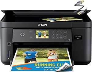Epson Expression Home XP-5100 Small All-in-One Color Inkjet Printer - Print Copy Scan - Wireless Connectivity - Mobile Printing - Auto 2-Sided Printing - 14 ISO PPM - 2.4