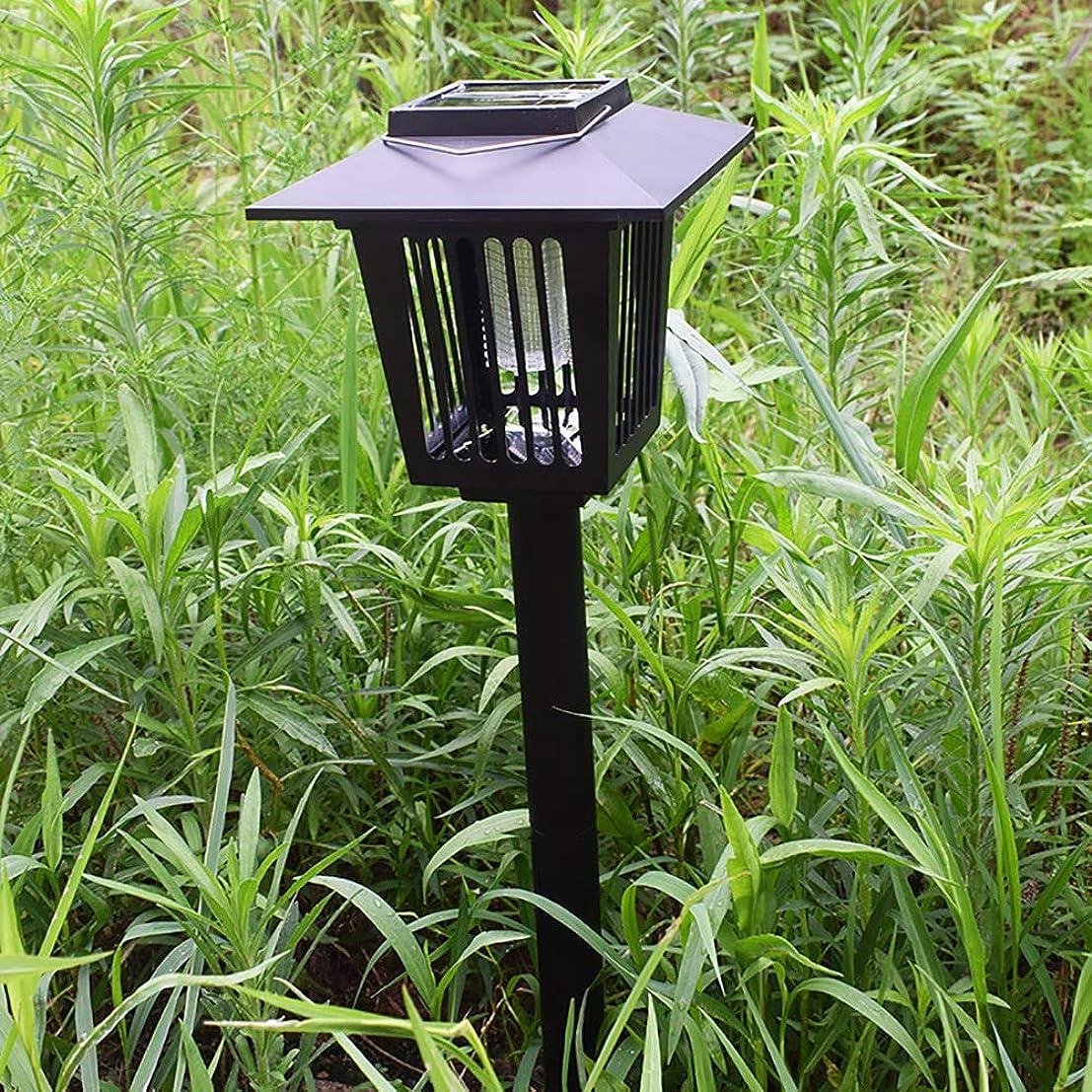 ベッツィトロットウッド日喜んでソーラー屋外中庭の防雨芝生ランプ、3 LED自動スイッチ作業、蚊キラー、6V 600MAH、プラグ式/吊り下げ設置