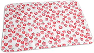 Watercolor Apples Red CBS_57,Portable,Waterproof Urine Mat (275 x 19.7 Inch), 70 x 50 cm) - Baby Reusable Diaper Waterproof Changing Pad Portable