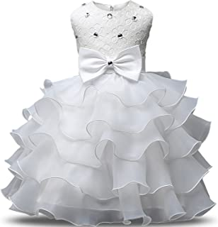 eb1a84edd5bc NNJXD Girl Dress Kids Ruffles Lace Party Wedding Dresses