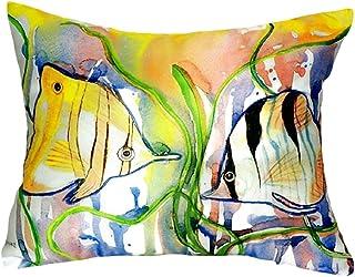 """Betsy Drake NC305 Angel Fish No Cord Pillow,,16"""" X20"""""""