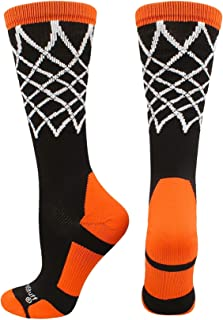 MadSportsStuff Elite Basketball Socks with Net Crew Length - Made in The USA
