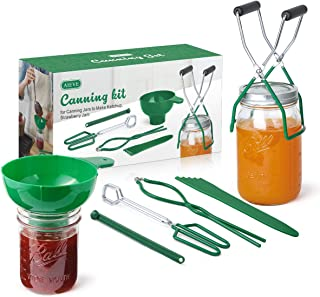 AIEVE Canning Kit Canning Supplies Include Canning Funnel, Jar Lifter, Jar Wrench, Lid Lifter, Canning Tongs, Bubble Poppe...