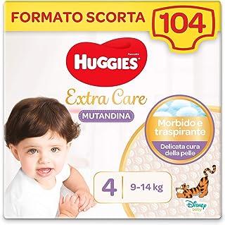 Huggies Extra Care luier maat 4 (7-14 kg), 4 verpakkingen met 26 luiers – 4280 g