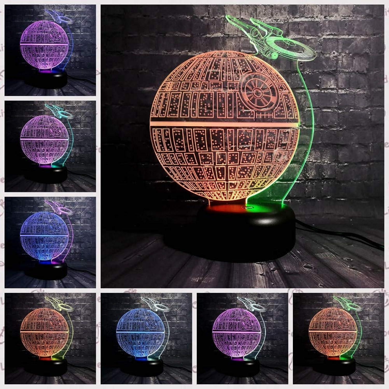 Sakj-d DeathTrekCartoon Abbildung Mischfarbe 3D Lampe Led Usb Nachtlicht 7 Farbverlauf Geschenk Kinder Spielzeug Kmpfer