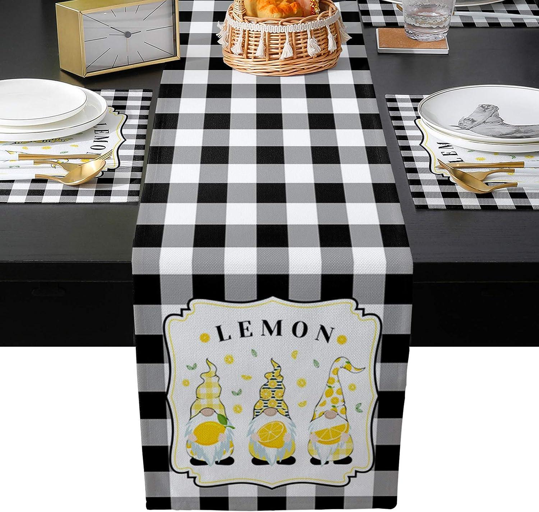 本店 Infinidesign Lemons Table Placemat Sets Plac 6 Rectangal Pieces 超目玉