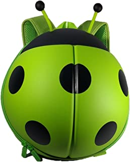 TangoKids Ladybug Shaped Cute Backpack For Kids and Toddlers 3D School Bag, Baby Boys Girls Pre School Kindergarten Play School Backpack Bag, Light Weight & Soft material Birthday Gift Return Gift - (Green)