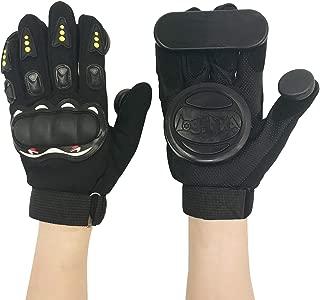 IMPORX Longboard Slide Gloves Downhill Longboarding Skate Gloves with 2 Slider Puck