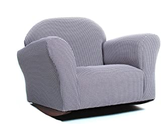 KEET Roundy Rocking Kid's Chair Gingham, Brown