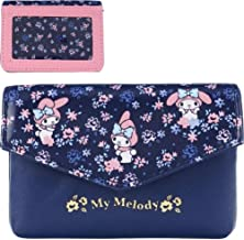 My Melody PU Leather Pouch Card Money Wallet Coin Purse with ID Window & Key Ring