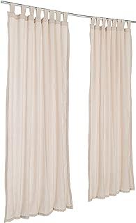Pawleys Island Sunbrella Outdoor Gazebo Tabbed Sheer Curtain Panel Shadow Wren 50