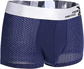 Baoblaze Men's Breathable Mesh Underpants Boxer Briefs Underwear Shorts XL Blue