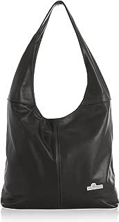 Liatalia Womens Large Hobo Bag - Leather Shoulder Handbag Italian Soft Leather - OLIVIA