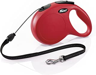 Flexi New Classic Retractable Dog Leash (Cord), 26 ft, Medium, Red