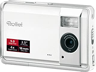 Rollei Compactline 50 Digitalkamera (5 Megapixel, 4 Fach Digit. Zoom, 6,4 cm (2,5 Zoll) Display) weiß