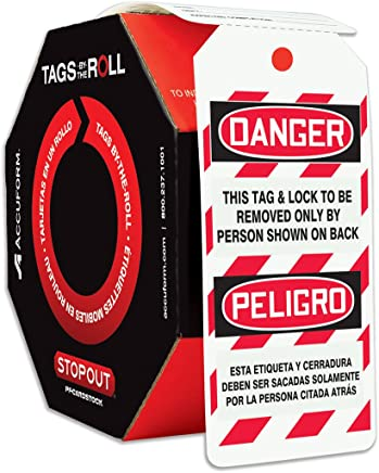 Accuform Signs TAR464 Tags By-The-Roll Spanish Bilingual Lockout Tags, Legend