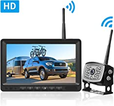 LeeKooLuu HD Digital Wireless Backup Camera 7''Monitor Highway Observation..