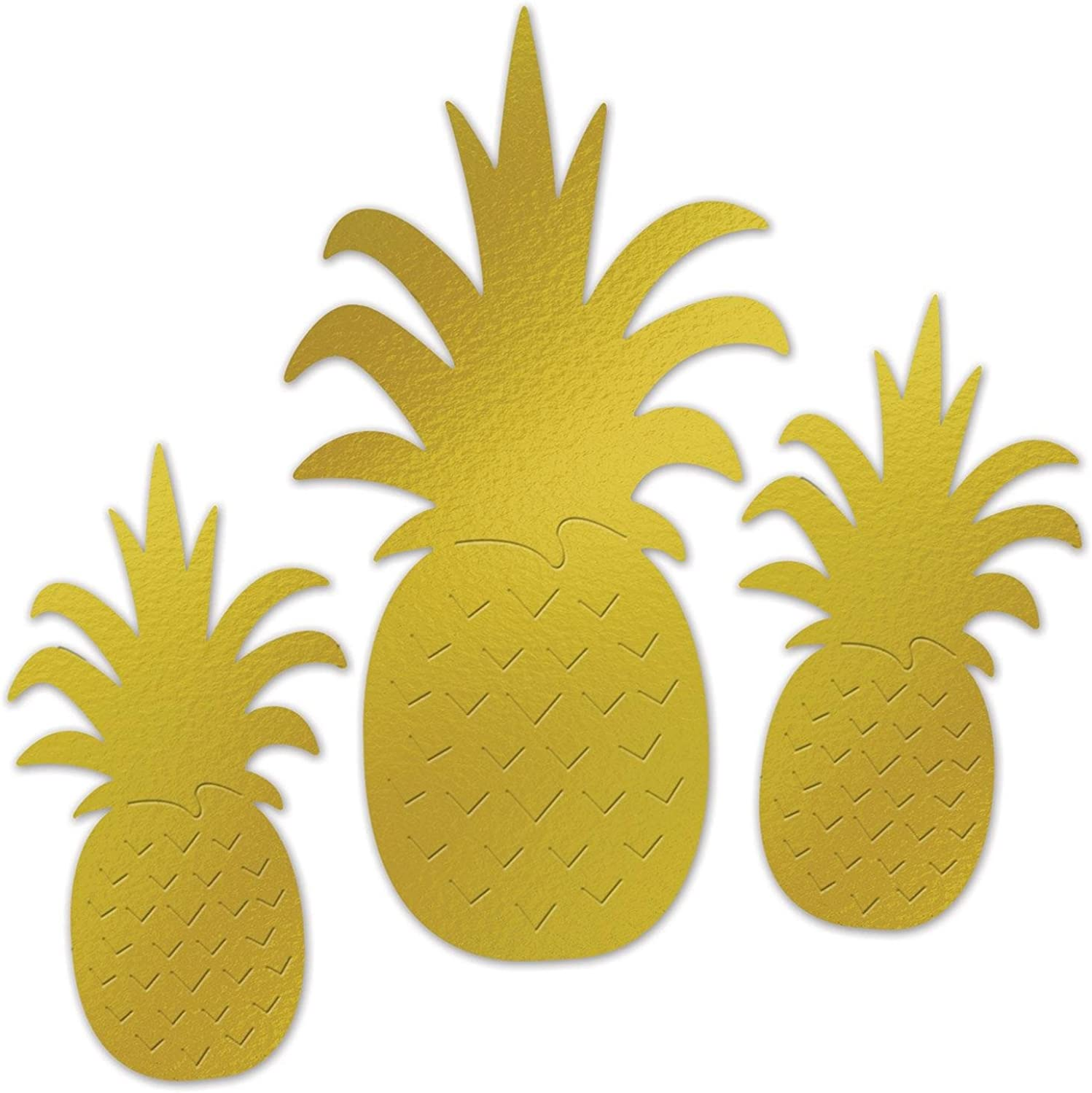 Party Central Club Pack of 12 Spring and Summertime Assorted Pineapple Fruit Display Cutouts 18