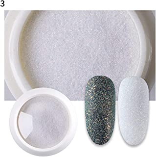 whatBYDs Iridescent Fine Glitter Powder Shinning Nail Mirror Powder for Nail Art Design Gel Nail Polish DIY Decals - 3