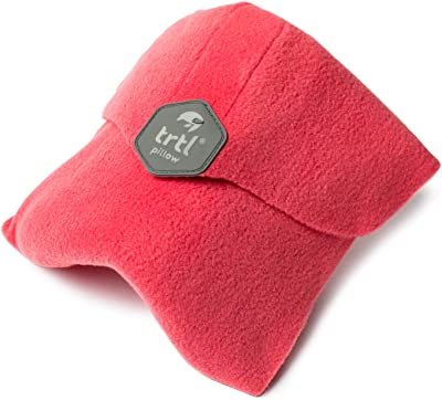 trtl Pillow - Scientifically Proven Super Soft Neck Support Travel Pillow – Machine Washable (Coral)
