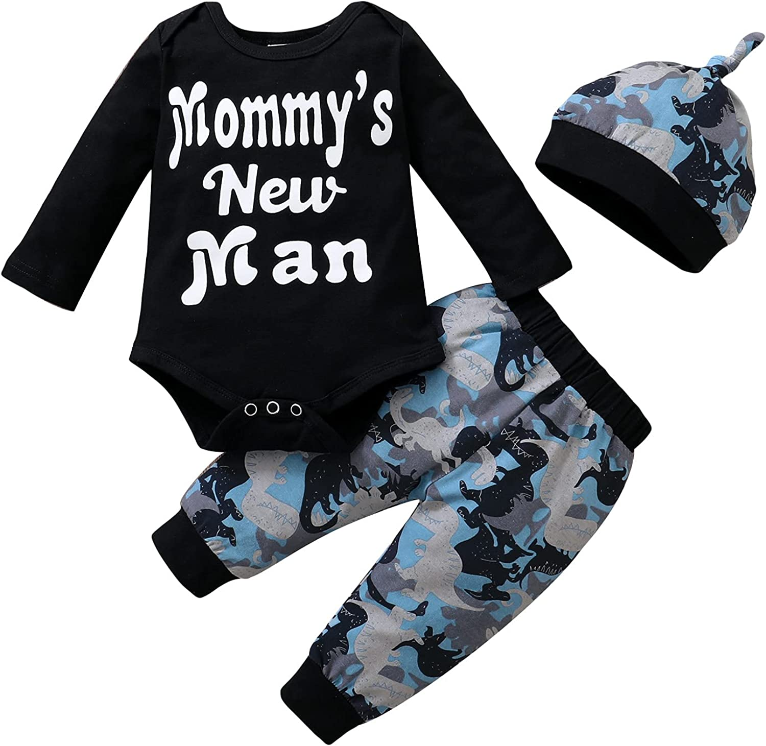Newborn Baby Boy Clothes Letter Print Long Sleeve Romper Bodysuit + Long Pants Fall Winter Outfits Set