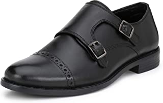 Saddle & Barnes Men's Leather Monk Strap Shoes