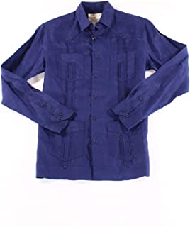 Tasso Elba Men's Linen Guayabera Shirt