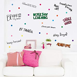PARLAIM Inspirational Wall Decals Motivational Phrases Sticker Wall Decals Quotes Removable Vinyl Decals for Kids Home Decoration, Positive Sayings Window Cling Decor and Classroom Office Home Decor