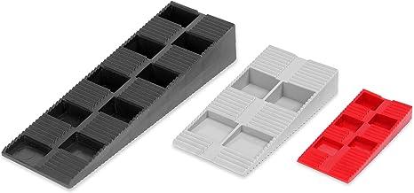 INNONEXXT Premium Keile MIX   135 Stück   Made in Germany   Unterlegkeile, Montagekeile, Distanzkeile aus Kunststoff   im Set: 70 x Rot, 55 x Grau, 10 x Schwarz
