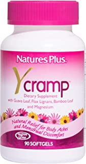NaturesPlus Y Cramp - 90 Softgels - Relief for PMS, Body Aches, Cramps & Menstrual Discomfort - Promotes Healthy Muscle To...