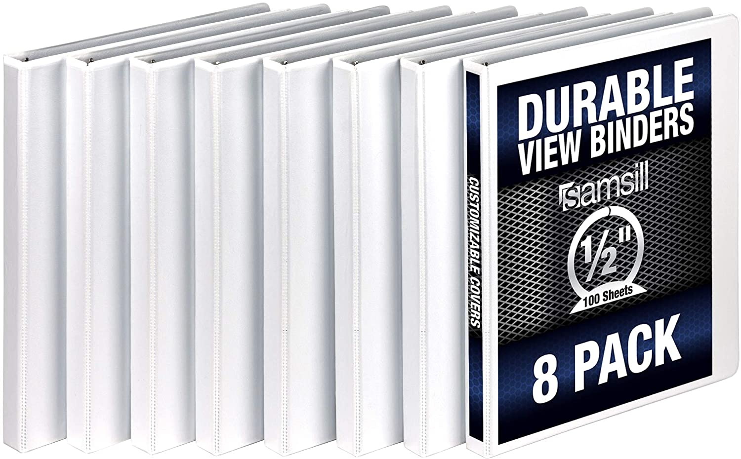 Samsill 3 Ring Durable View Binders - Rin Max 78% OFF 8 Inch High material Pack 1 2 Round